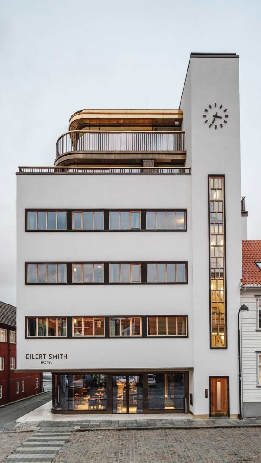 Eilert Smith Hotel functionalist building exterior